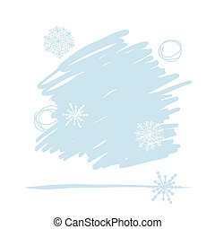 Abstract background with snowflakes for your design