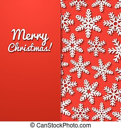 Abstract background with snowflakes. Vector illustration.