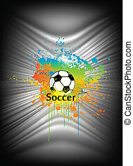 Abstract background with soccer ball. Vector