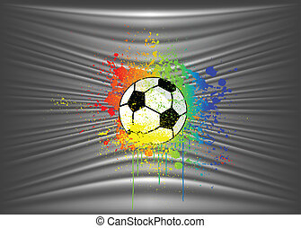 Abstract background with soccer ball. Vector illustration