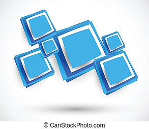 Abstract background with squares. Bright illustration