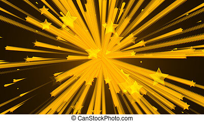 Abstract background with stars explosion