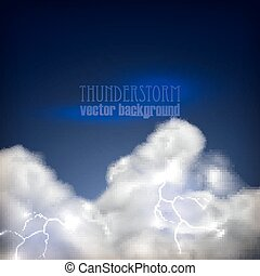 abstract background with storm clouds and lightning
