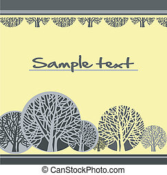 Abstract background with stylized trees