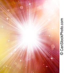 abstract background with sunrays and stars