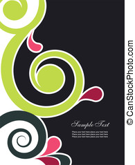 Abstract background with swirls. Easy to edit vector image.