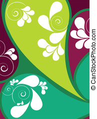 Abstract background with swirls