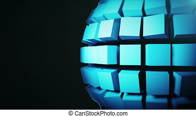 Abstract background with technology sphere