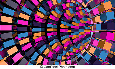 Abstract background with technology tunnel