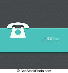 Abstract background with  telephone.