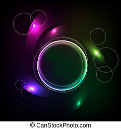 Abstract background with the ball and the color elements. eps10