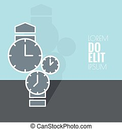 Abstract background with the clock.