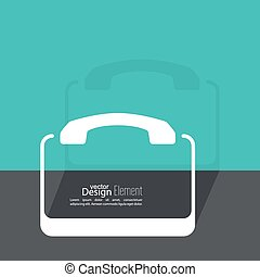 Abstract background with the handset
