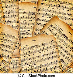 Abstract background with the music book