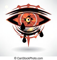 Abstract background with the national pattern in the form of the eye with space for text