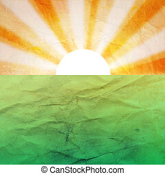 abstract background with the sun and the earth