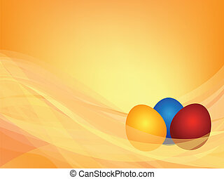 background with three Easter eggs - Abstract background with...