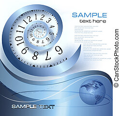 Abstract background with time - Abstract background with...