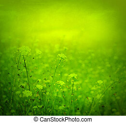 Abstract background with Tiny spring flowers