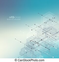 Abstract Background with transparent cubes - Abstract neat...