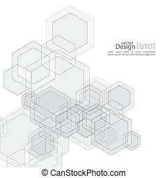 Abstract  Background with transparent cubes