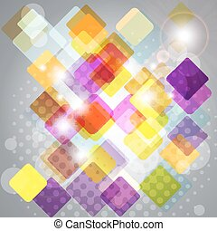 Abstract background with transparent squares.