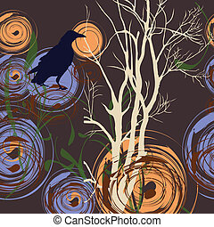 Abstract background with tree and c