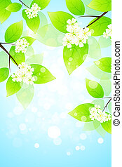 Abstract Background with Tree Branch