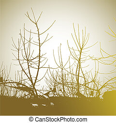 Abstract background with tree.