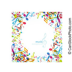 Abstract background with tunes.