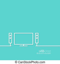 Abstract background with TV