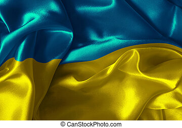 Ukraine flag - Abstract background with  Ukraine flag