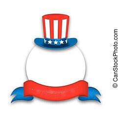 Abstract Background with Uncle Sam's Hat for National Holidays of USA