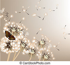 Abstract background with vector dan - Cute vector background...