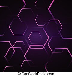 Abstract background with violet hexagon