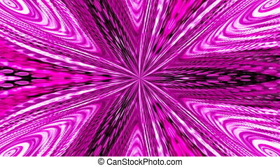 Abstract background with violete kaleidoscope. Seamless loop