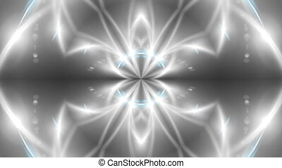 Abstract background with VJ Fractal silver kaleidoscopic. 3d...
