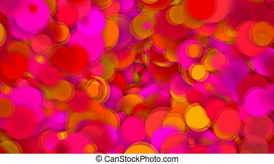 Abstract background with vortex particles