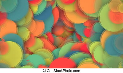 Abstract background with vortex particles. Seamless loop