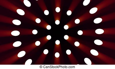 Abstract background with wall from lamps of bright light....