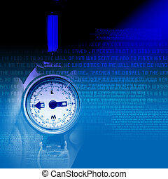 Mens watches on abstract artistic background