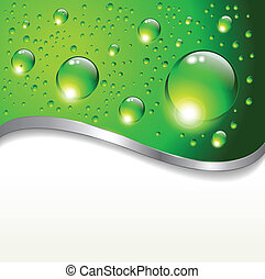 abstract background with water drop