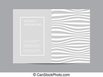 Abstract background with wavy lines pattern on gray background