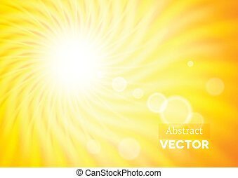 Abstract background with wavy sunshine and flares
