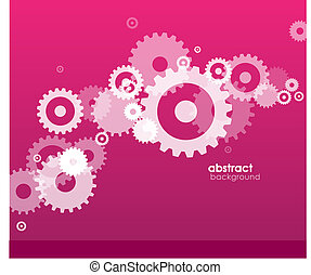 Abstract background with wheels.