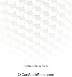 Abstract background with white 3d cubes. Futuristic design.