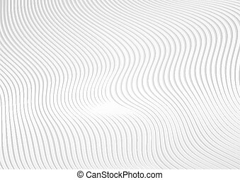 Abstract background with white 3d paper refracted geometric waves