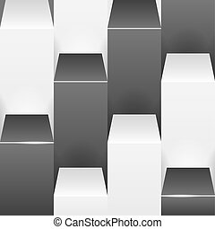 Abstract background with white and black boxes.
