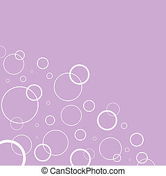 Abstract background with white circles on pink