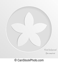Abstract background with white flower